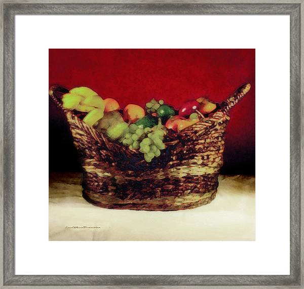 That Basket Of Fruits Painting Framed Print