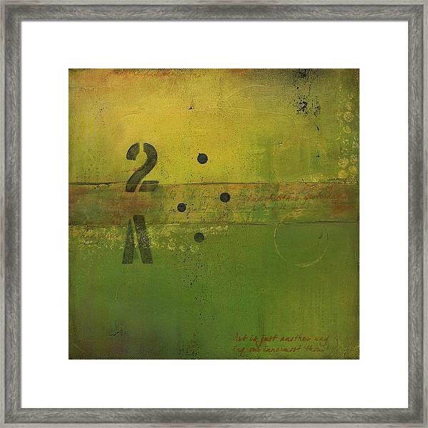 The 2a Framed Print