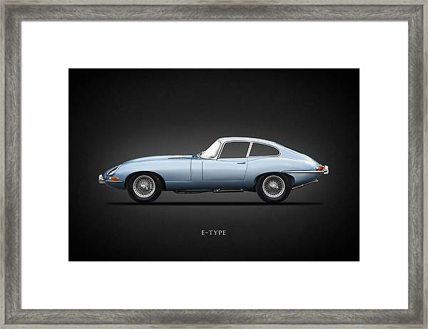 The 65 E-type Coupe Framed Print