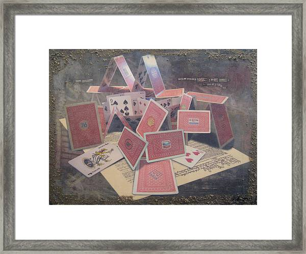 the 7 contemporary sins - Greed Framed Print