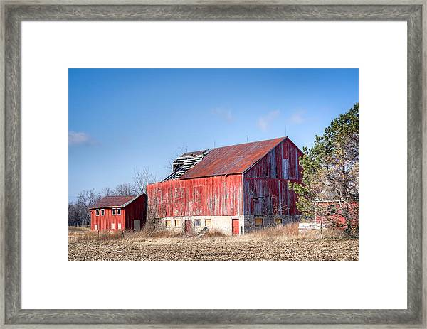 The Abandoned Barn Framed Print