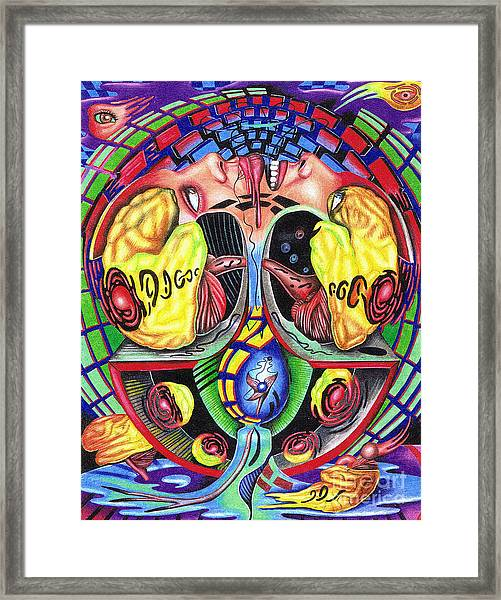 The Abduction Of A Foreign Mind Framed Print