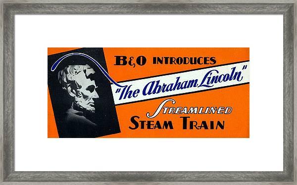 The Abraham Lincoln Framed Print
