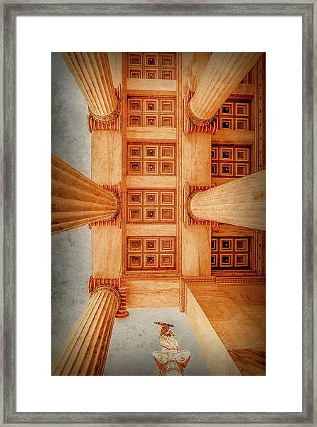 Framed Print featuring the photograph Athens, Greece - The Academy Entry Soffit by Mark Forte