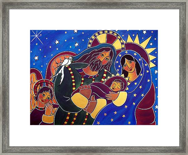 The Adoration Of The Child Framed Print