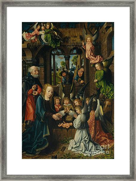 The Adoration Of The Christ Child Framed Print