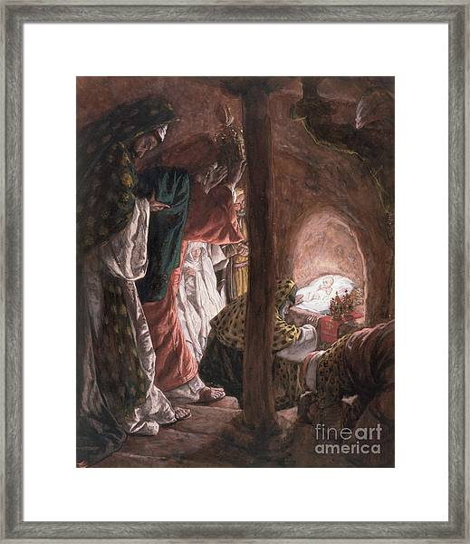 The Adoration Of The Wise Men Framed Print