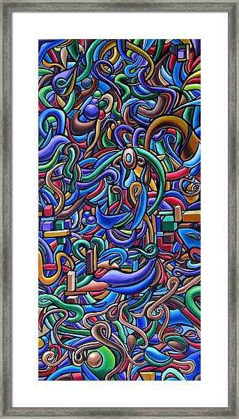 Colorful Abstract Art Abstract Painting Colorful Chromatic Acrylic Painting Framed Print