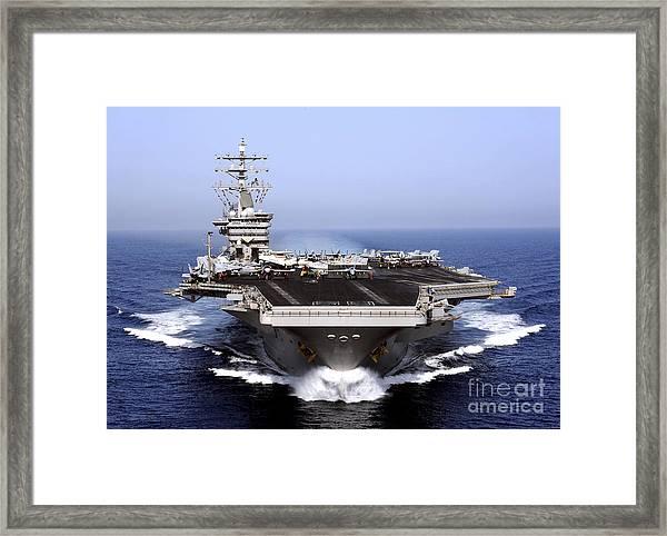 The Aircraft Carrier Uss Dwight D Framed Print