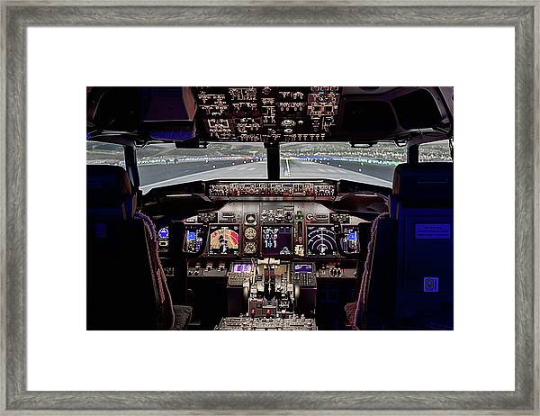 The Airline Pilot Office Framed Print by JC Findley
