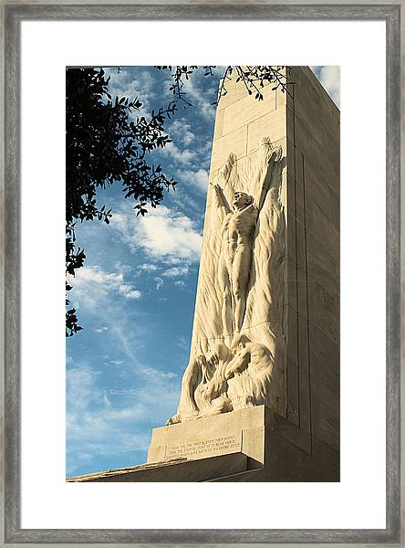 The Alamo Cenotaph Framed Print