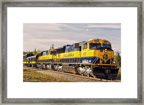 The Alaska Railroad Framed Print