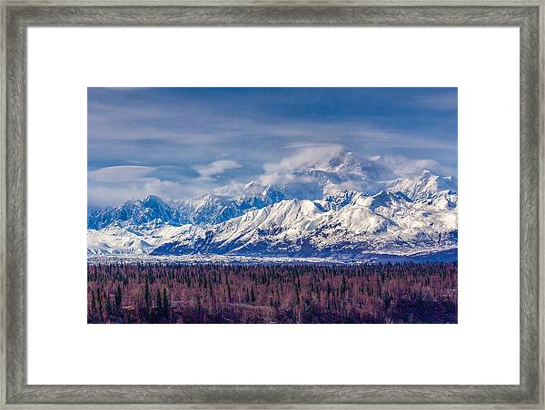 The Alaska Range At Mount Mckinley Alaska Framed Print
