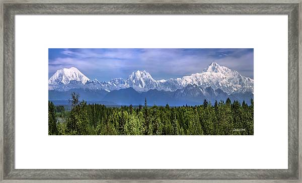 Framed Print featuring the photograph The Alaska Range by Claudia Abbott