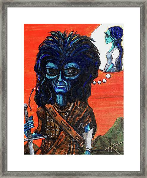 The Alien Braveheart Framed Print