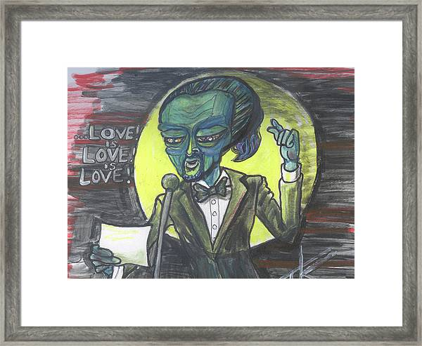 The Alien Lin-manuel Miranda Framed Print