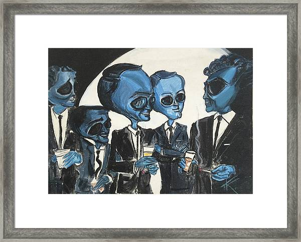 The Alien Rat Pack Framed Print