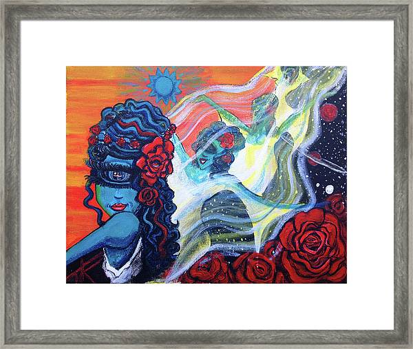 The Alien Scarlet Begonias Framed Print