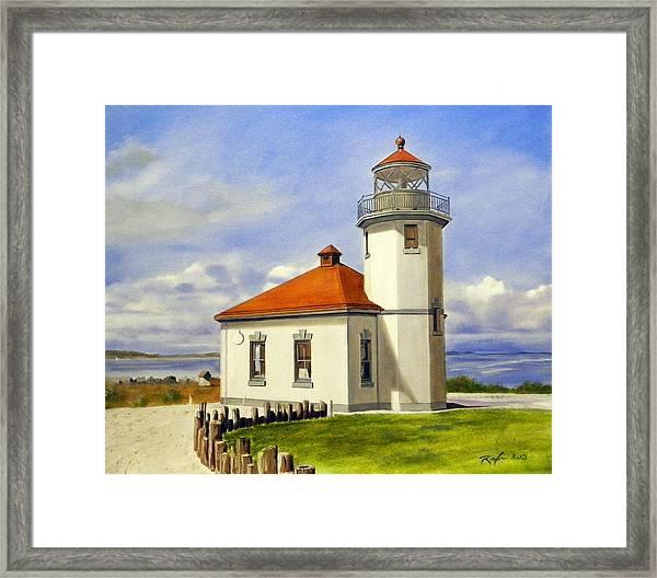 The Alki Point Light Framed Print