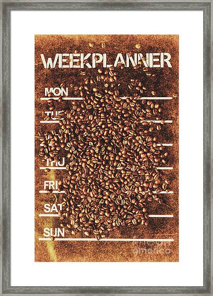 The All Week Coffee Break Framed Print