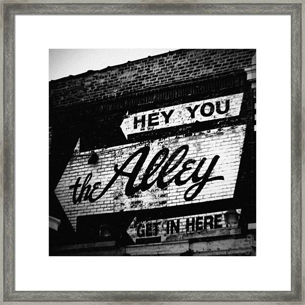 The Alley Chicago Framed Print