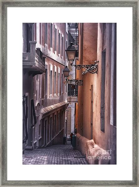 The Alleyways Of San Juan Framed Print