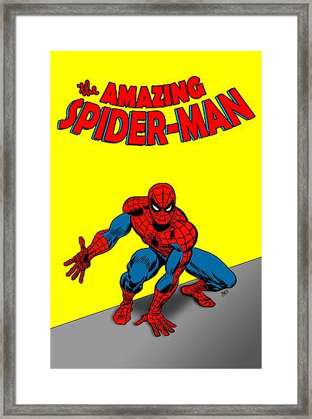 Framed Print featuring the painting The Amazing Spider-man by Antonio Romero