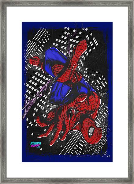 The Amazing Spider-man Framed Print by Joseph Burke