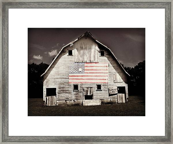 The American Farm Framed Print