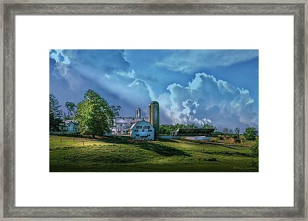 The Amish Farm Framed Print