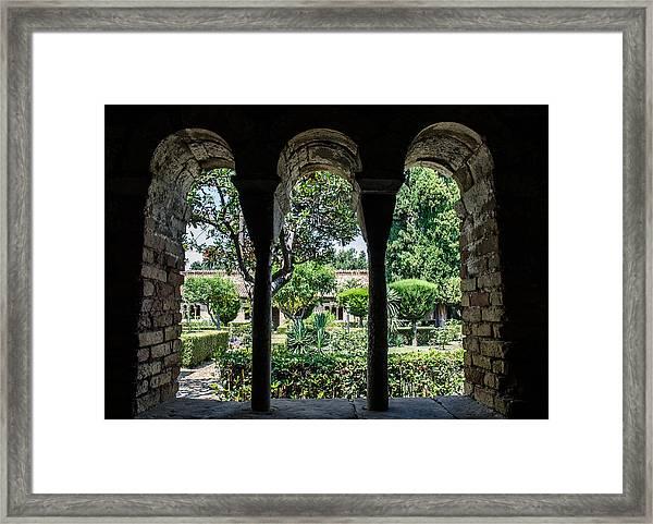 The Ancient Cloister Framed Print