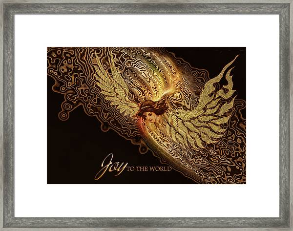 The Angel Cometh Framed Print