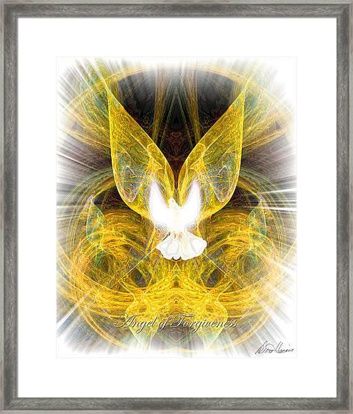 The Angel Of Forgiveness Framed Print