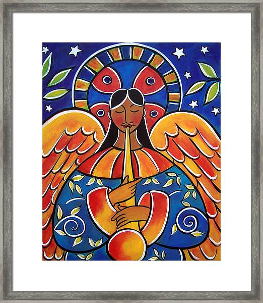 The Angel Of Glad Tidings Framed Print