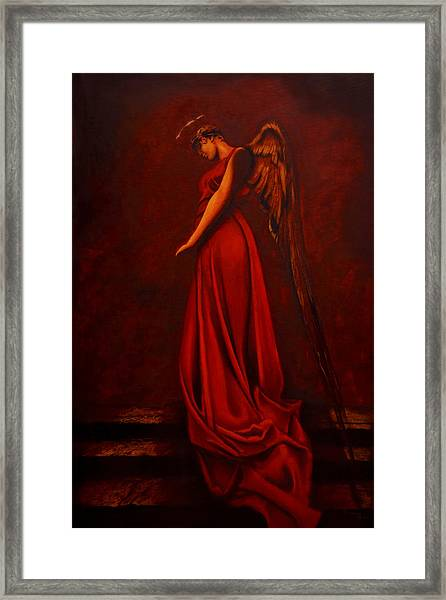 The Angel Of Love Framed Print