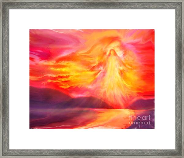 The Angel Of Protection Framed Print
