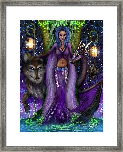 The Animal Goddess Fantasy Art Framed Print