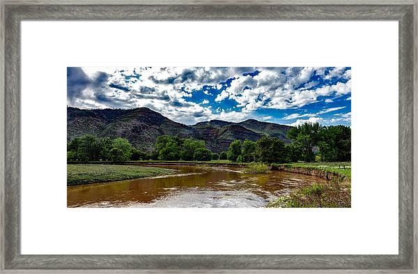 The Animas River Framed Print