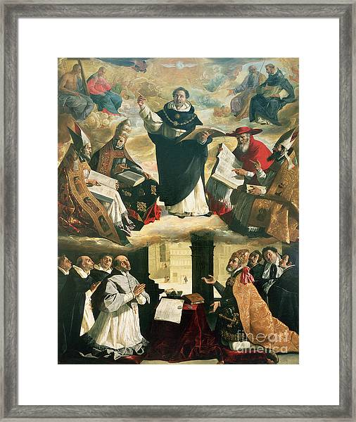 The Apotheosis Of Saint Thomas Aquinas Framed Print
