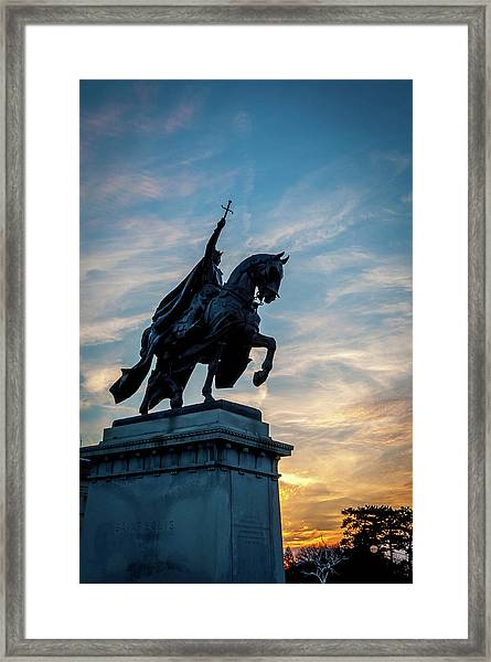 The Apotheosis Of St. Louis Framed Print