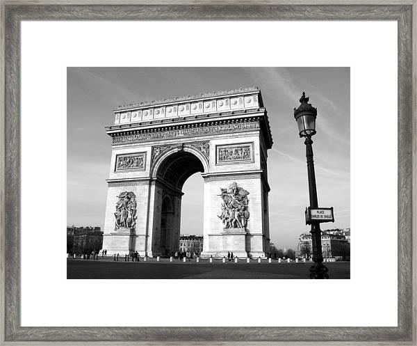 The Arc Di Triomph Framed Print