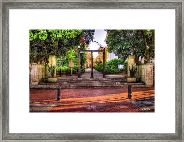 The Arch 4 University Of Georgia Arch Art Framed Print