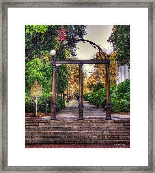 The Arch University Of Georgia Arch Art Framed Print
