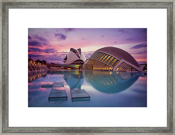The Architecture Of Modern Valencia Spain  Framed Print by Carol Japp