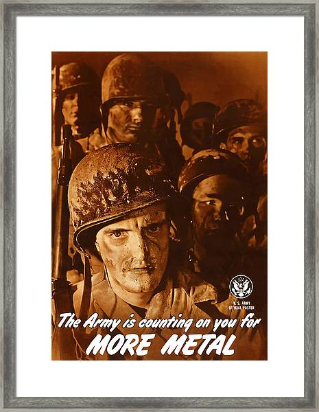 The Army Is Counting On You  Framed Print