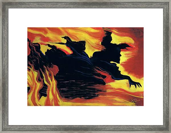 The Arrival Of The Wicked Framed Print