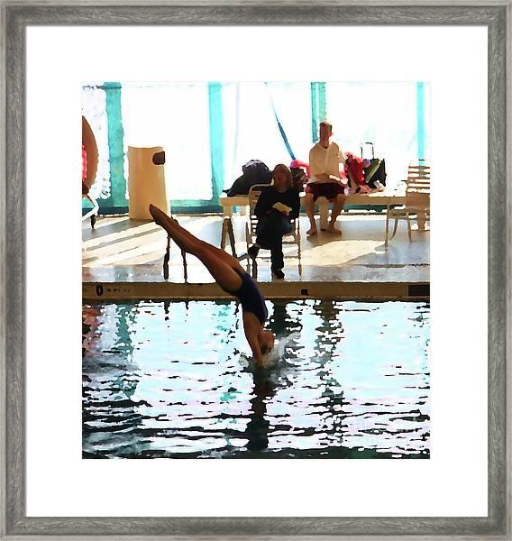 The Art Of Diving 3 Framed Print