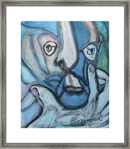 the Artist at Work Framed Print