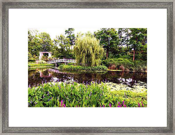 The Artists Garden Framed Print