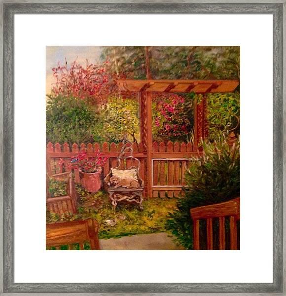 The Artist's Garden Framed Print